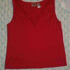Chicos red sleeveless shirt